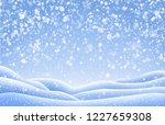 christmas landscape with snow... | Shutterstock .eps vector #1227659308