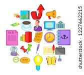 strategics icons set. cartoon... | Shutterstock .eps vector #1227662215