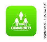 web community icon green vector ...