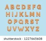 christmas gingerbread cookies   ... | Shutterstock .eps vector #1227665608