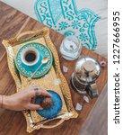turkish coffee with sugar   Shutterstock . vector #1227666955