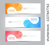 vector abstract design banner... | Shutterstock .eps vector #1227667762