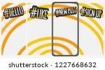 abstract social media stories... | Shutterstock .eps vector #1227668632