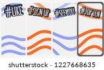 abstract social media stories... | Shutterstock .eps vector #1227668635