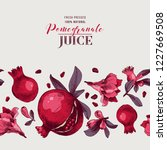 pomegranate background with... | Shutterstock .eps vector #1227669508