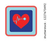 cardiogram icon. heartbeat... | Shutterstock .eps vector #1227673492