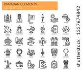 ramadan elements   thin line... | Shutterstock .eps vector #1227674842
