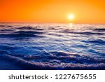sunset with dramatic sky ... | Shutterstock . vector #1227675655