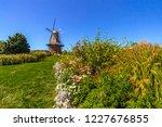 holland michigan dutch windmill.... | Shutterstock . vector #1227676855