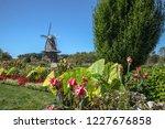 holland michigan dutch windmill.... | Shutterstock . vector #1227676858