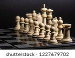 plastic chess closeup on a... | Shutterstock . vector #1227679702