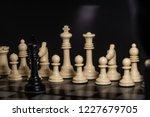 plastic chess closeup on a... | Shutterstock . vector #1227679705