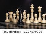plastic chess closeup on a... | Shutterstock . vector #1227679708