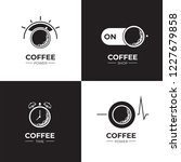 coffee black and white logo set.... | Shutterstock .eps vector #1227679858
