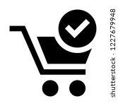 verified shopping cart | Shutterstock .eps vector #1227679948