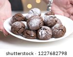 chocolate brownie cookies in... | Shutterstock . vector #1227682798
