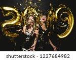 beautiful women celebrating new ... | Shutterstock . vector #1227684982