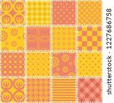patchwork background with...   Shutterstock . vector #1227686758