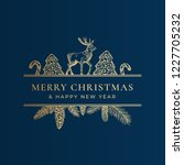 christmas frame banner with... | Shutterstock .eps vector #1227705232