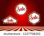 casino sale banner set design....   Shutterstock .eps vector #1227708202