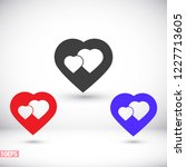 vector icon heart 10 eps | Shutterstock .eps vector #1227713605