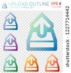 upload outline geometric... | Shutterstock .eps vector #1227714442