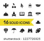 sunny icons set with air...