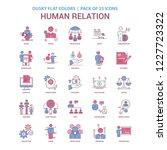 human relation icon dusky flat... | Shutterstock .eps vector #1227723322