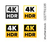 4k ultra hd sign | Shutterstock .eps vector #1227751135