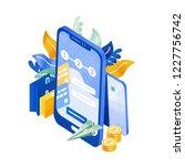 modern phone or smartphone ...   Shutterstock .eps vector #1227756742