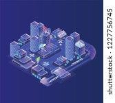 smart city model. modern urban... | Shutterstock .eps vector #1227756745