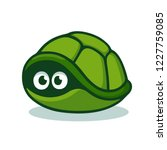 cartoon turtle afraid to come... | Shutterstock .eps vector #1227759085
