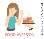 woman with food aversion or... | Shutterstock .eps vector #1227762178