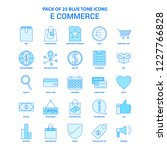 e commerce blue tone icon pack  ... | Shutterstock .eps vector #1227766828