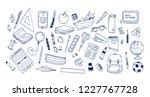 bundle of school supplies or... | Shutterstock .eps vector #1227767728
