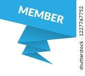 member sign label. member... | Shutterstock .eps vector #1227767752