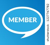 member sign label. member... | Shutterstock .eps vector #1227767782