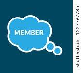 member sign label. member... | Shutterstock .eps vector #1227767785