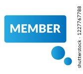 member sign label. member... | Shutterstock .eps vector #1227767788