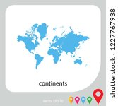 map of continents abstract... | Shutterstock .eps vector #1227767938