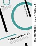 minimalistic design poster... | Shutterstock .eps vector #1227768325