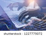 digital technology  software... | Shutterstock . vector #1227775072