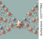 christmas background with... | Shutterstock .eps vector #1227777862