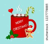 hot chocolate cup with... | Shutterstock .eps vector #1227778885