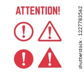 danger sign flat design.... | Shutterstock .eps vector #1227783562