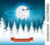 fantastic winter landscape on...   Shutterstock .eps vector #1227783802