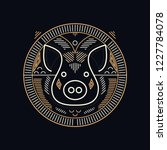 pig symbol design   line art...   Shutterstock .eps vector #1227784078