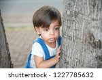 cute baby boy toddler with... | Shutterstock . vector #1227785632