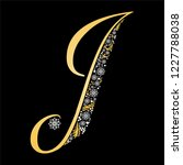 gold letter j  isolated on... | Shutterstock . vector #1227788038