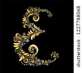gold letter e  isolated on... | Shutterstock . vector #1227788068